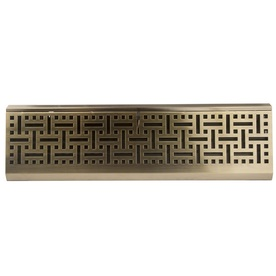 allen + roth Baseboard Diffuser Antique Brass Steel Register (Rough Opening: 2.75-in x 18-in; Actual: 2.7-in x 17.75-in)
