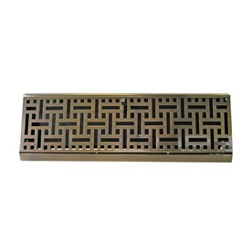 Accord 15-in Antique Brass Baseboard Register