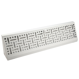 allen + roth White Steel Baseboard Register (Rough Opening: 2.75-in x 18-in; Actual: 2.7-in x 17.75-in)