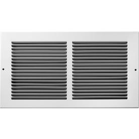 Accord 195 Series White Steel Louvered Baseboard Grilles (Rough Opening: 14-in x 6-in; Actual: 15.75-in x 7.75-in)