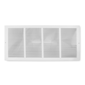 Accord Baseboard Return White Steel Louvered Baseboard Grille (Rough Opening: 24-in x 6-in; Actual: 25.75-in x 7.75-in)