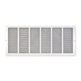 Accord Baseboard Return White Steel Louvered Baseboard Grille (Rough Opening: 30-in x 6-in; Actual: 31.75-in x 7.75-in)