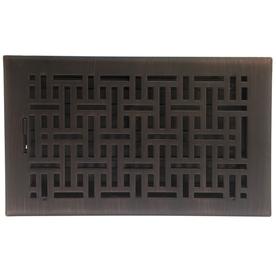 allen + roth Wicker Oil-Rubbed Bronze Steel Floor Register (Rough Opening: 6-in x 10-in; Actual: 7.37-in x 11.42-in)