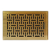 allen + roth Wicker Antique Brass Steel Floor Register (Rough Opening: 6-in x 10-in; Actual: 7.37-in x 11.42-in)