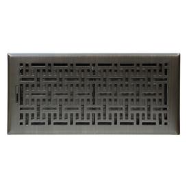 Accord 6-in x 14-in Oil-Rubbed Bronze Steel Floor Register