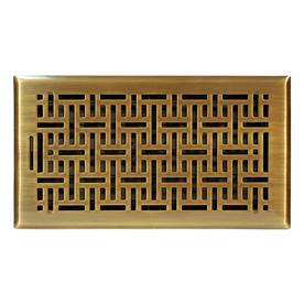 Accord 6-in x 12-in Antique Brass Steel Floor Register