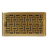 Accord 6-in x 12-in Antique Brass Floor Register