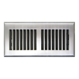 Accord Louvered Satin Nickel ABS Resin Floor Register (Rough Opening: 4-in x 10-in; Actual: 5.15-in x 11.42-in)