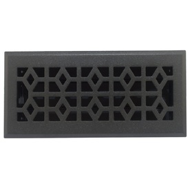 allen + roth Marquis Matte Cast Iron Floor Register (Rough Opening: 4-in x 10-in; Actual: 5.36-in x 11.42-in)