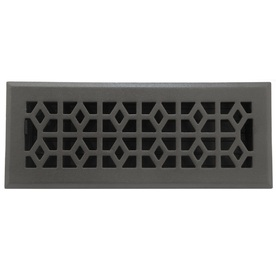 allen + roth Marquis Matte Cast Iron Floor Register (Rough Opening: 4-in x 12-in; Actual: 5.39-in x 13.5-in)