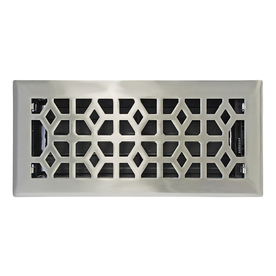 allen + roth Marquis Satin Nickel Steel Floor Register (Rough Opening: 4-in x 10-in; Actual: 5.36-in x 11.44-in)