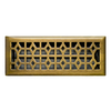 allen + roth Marquis Antique Brass Steel Floor Register (Rough Opening: 4-in x 12-in; Actual: 5.36-in x 13.47-in)