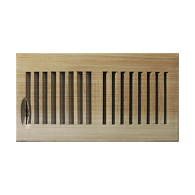 Accord 6-in x 14-in Unfinished Wood Floor Register