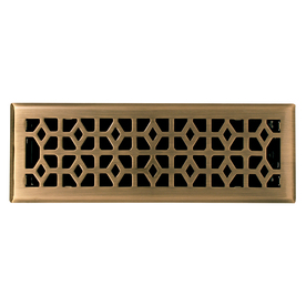 allen + roth Marquis Antique Brass Steel Floor Register (Rough Opening: 14-in x 4-in; Actual: 11.42-in x 5.39-in)
