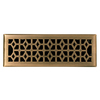 allen + roth Marquis Antique Brass Steel Floor Register (Rough Opening: 4-in x 14-in; Actual: 5.39-in x 11.42-in)