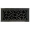 allen + roth Charleston Oil-Rubbed Bronze Steel Floor Register (Rough Opening: 4-in x 10-in; Actual: 5.38-in x 11.42-in)