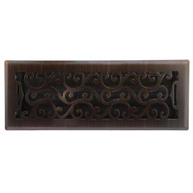 allen + roth Charleston Oil-Rubbed Bronze Steel Floor Register (Rough Opening: 4-in x 12-in; Actual: 5.37-in x 13.42-in)