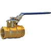 AMERICAN VALVE 1-1/4-in Brass Female In-Line Ball Valve
