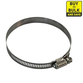 4-in Dia x 4-1/2-in L Stainless Steel Adjustable Clamp