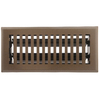 Accord Brooklyn Brown Steel Floor Register (Rough Opening: 4-in x 10-in; Actual: 5.37-in x 11.42-in)