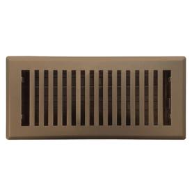 Accord Brooklyn Brown Steel Floor Register (Rough Opening: 4-in x 12-in; Actual: 5.37-in x 13.42-in)