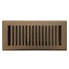 Accord Brooklyn Brown Steel Floor Register (Rough Opening: 4-in x 12-in; Actual: 5.37-in x 13.42-in)