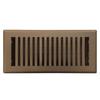 Accord Brooklyn Brown Steel Floor Register (Rough Opening: 4-in x 14-in; Actual: 5.37-in x 15.42-in)