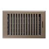 Accord Brooklyn Brown Steel Floor Register (Rough Opening: 6-in x 10-in; Actual: 7.37-in x 11.42-in)