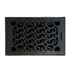 allen + roth Charleston Oil-Rubbed Bronze Steel Floor Register (Rough Opening: 6-in x 10-in; Actual: 7.37-in x 11.42-in)