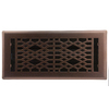 allen + roth Cathedral Oil-Rubbed Bronze Steel Floor Register (Rough Opening: 4-in x 10-in; Actual: 5.37-in x 11.42-in)