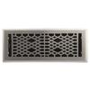 allen + roth Cathedral Satin Nickel Steel Floor Register (Rough Opening: 4-in x 12-in; Actual: 5.37-in x 13.42-in)