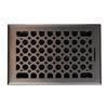 allen + roth Charlotte Oil-Rubbed Bronze Steel Floor Register (Rough Opening: 6-in x 10-in; Actual: 7.37-in x 11.42-in)
