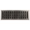 allen + roth Charlotte Satin Nickel Steel Floor Register (Rough Opening: 4-in x 14-in; Actual: 5.37-in x 15.42-in)