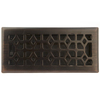 allen + roth Marquis Oil-Rubbed Bronze Steel Floor Register (Rough Opening: 4-in x 10-in; Actual: 5.38-in x 11.42-in)