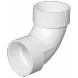Charlotte Pipe 3-in dia 90-Degree PVC Elbow Fitting