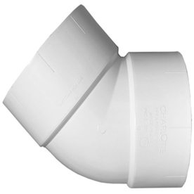 Shop Charlotte Pipe 3 In Dia 45 Degree PVC Elbow Fitting