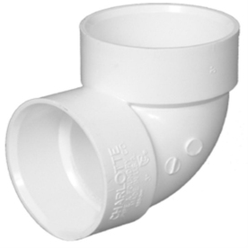 Charlotte Pipe 1-1/2-in Dia 90-Degree PVC Vent Elbow Fitting