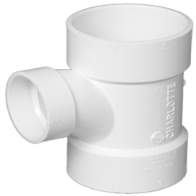 Charlotte Pipe 6-in x 6-in x 4-in dia PVC Sanitary Tee Fitting
