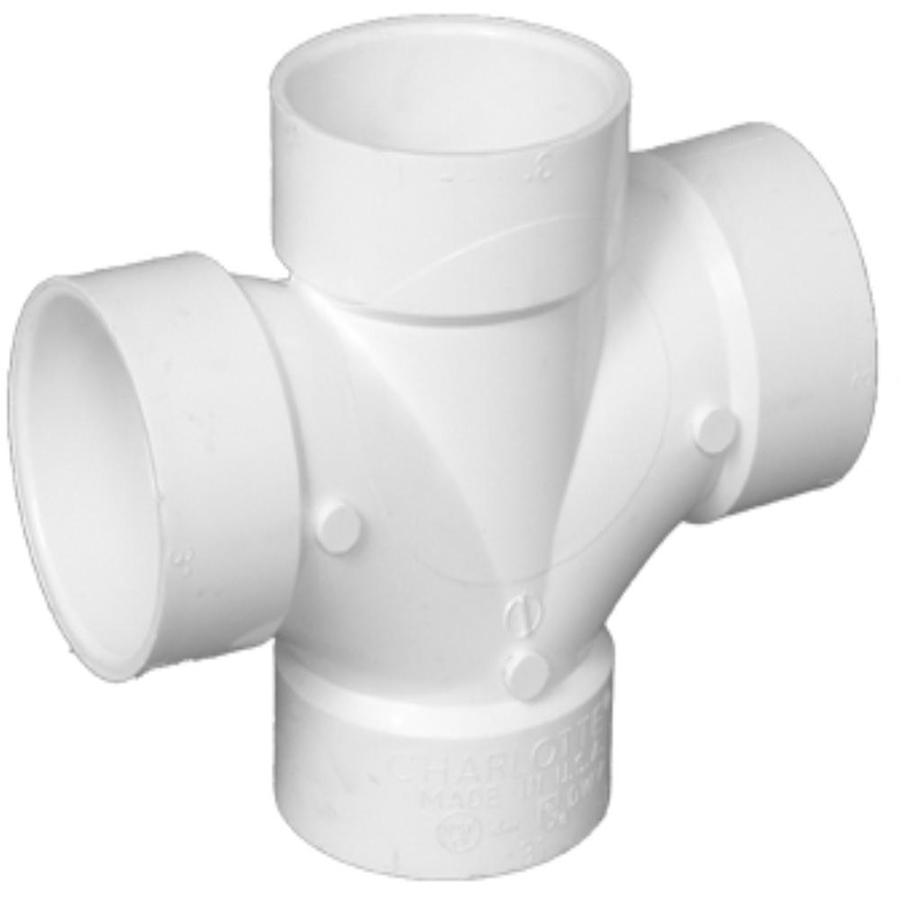 Shop charlotte pipe in dia pvc double sanitary tee