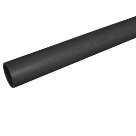 Charlotte Pipe 4-in x 20-ft 320-PSI Schedule 80 PVC Pipe