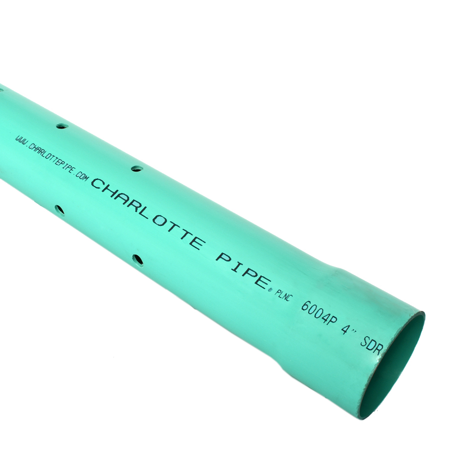 Shop silver line plastics 4 in x 10 ft perforated pvc for Pvc vs copper main water line