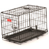 Lucky Dog 12.83-in x 12.08-in  x 12.33-in Black Powder Coat Collapsible Plastic and Wire Pet Crate