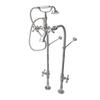 American Bath Factory Satin Nickel 3-Handle Fixed Freestanding Bathtub Faucet