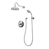 American Bath Factory 3-Handle Shower Faucet with Single Function Showerhead