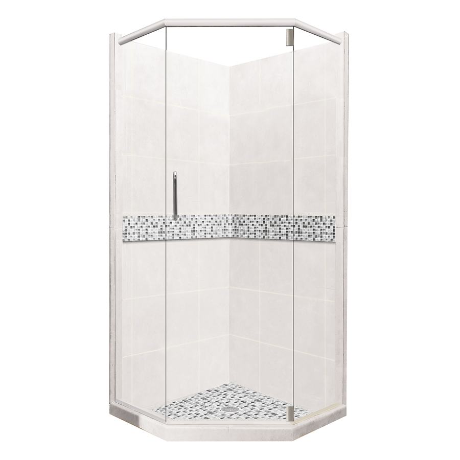 Piece Corner Shower Kit Actual 80 In X 42 In X 42 In At