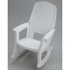 White Plastic Rocking Chair