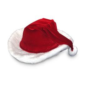 Red Velour Cowboy Santa Hat 3648