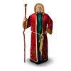 One Size Fits Most Burgundy Polyester Old World Santa Suit