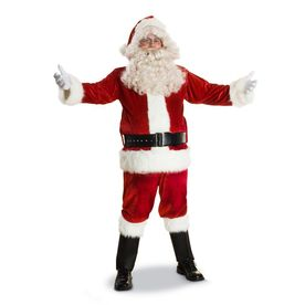 Large Red Polyester Santa Claus Suit 3952-L