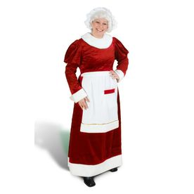 Red Polyester Mrs. Claus Suit